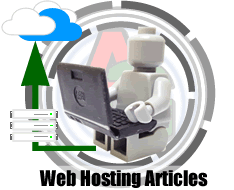 Lego man with laptop - Web Hosting Articles